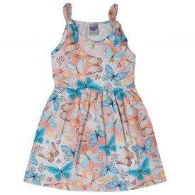vestido infantil menina borboletas salmao 5147 10655