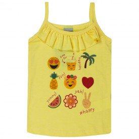 blusa infantil menina alcinha amarela 5156 10660