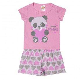 pijama infantil menina panda rosa 3300 10299