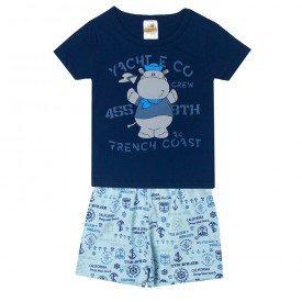 pijama infantil menino hipopotamo marinheiro azul 3201 10246