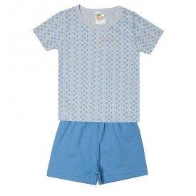 pijama infantil menino geometrico azul claro 2200 10247