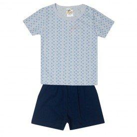 pijama infantil menino geometrico azul marinho 2200 10248