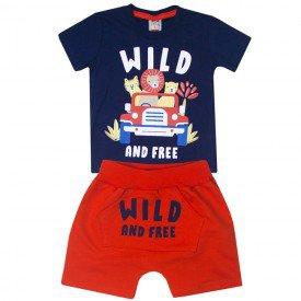 10748 conjunto infantil menino wild and free marinho laranja 191018