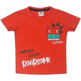 10742 camiseta infantil menino roar laranja 191012