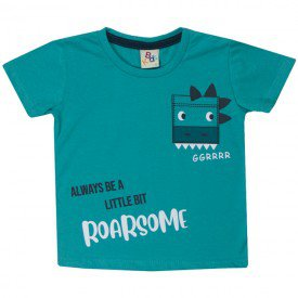 10741 camiseta infantil menino roar turquesa 191012