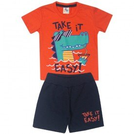 10747 conjunto infantil menino take it easy laranja preto 191017