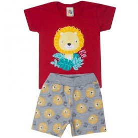 10736 conjunto bebe menino little lion vermelho mescla 191006
