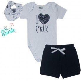 10781 conjunto body branco shorts preto milk bandana de brinde 1820
