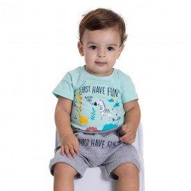 10732 conjunto bebe menino first have fun verde agua mescla 191003