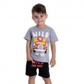 10749 conjunto infantil menino wild and free mescla preto 191018